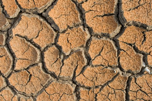 global warming concept of cracked ground