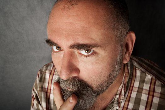 Closeup of man in his 40s