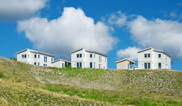 Newly built white houses