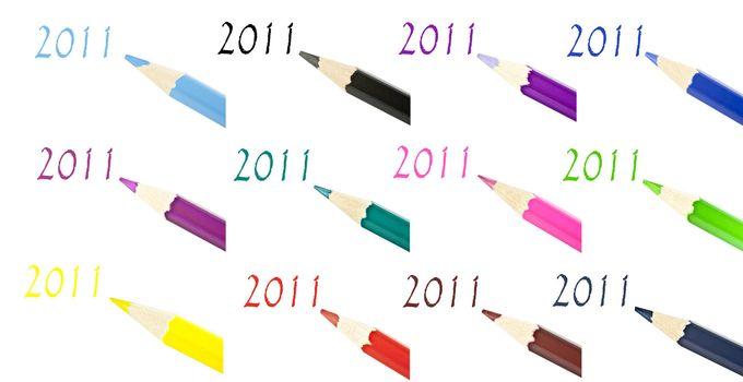 Multi-color pencil composition