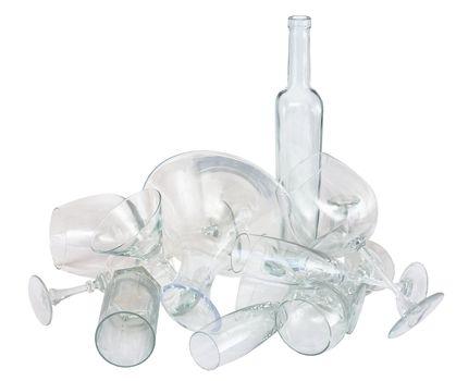 Heap of glassware