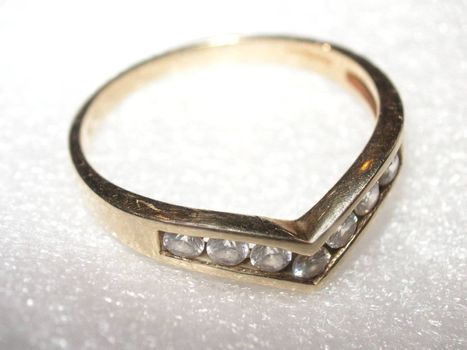 eternity diamond set ring
