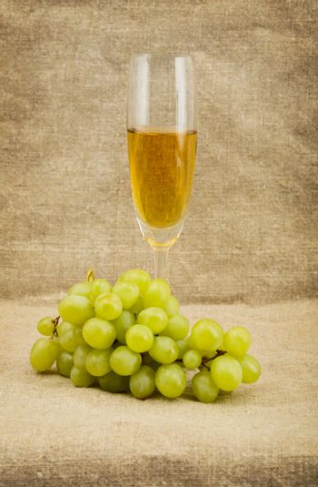 Goblet and grape