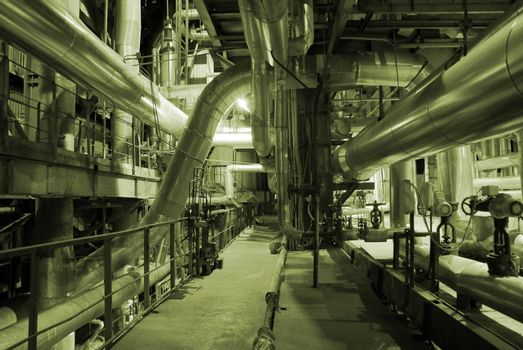 Pipes inside energy plant