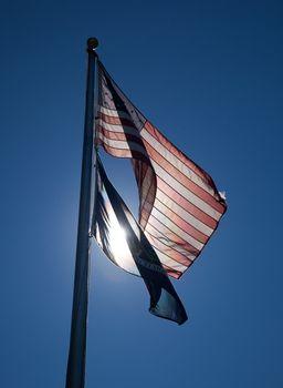 Backlit US Flag