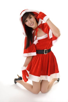 Seductive Christmas beauty