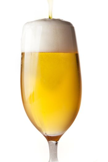 Isolated Beer Pour