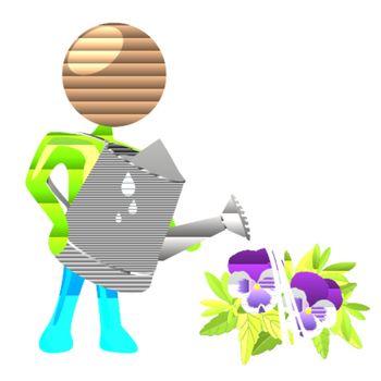 watering humanoid