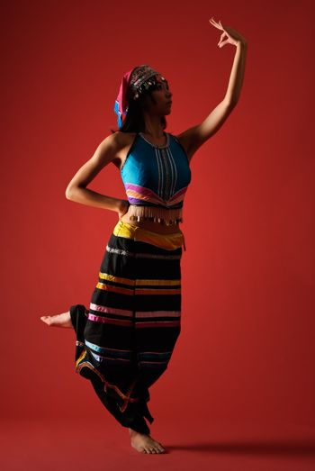 Mysterious traditional dancing