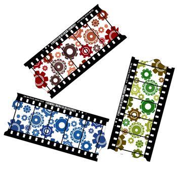 Cogwheels on a filmstrip