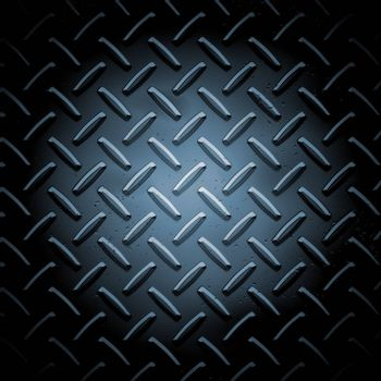 Metallic plate texture background - square format