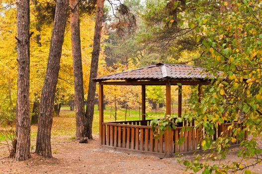 Pavilion in the park horizontal