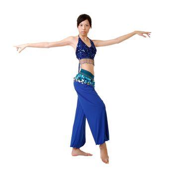Attractive oriental dancer