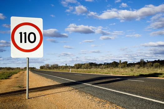 Australia road sign