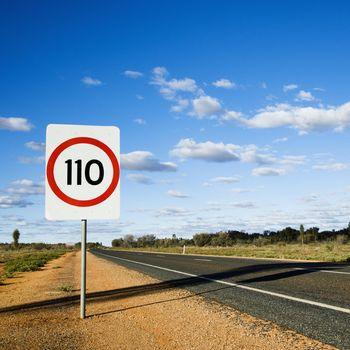 Australia speed limit sign