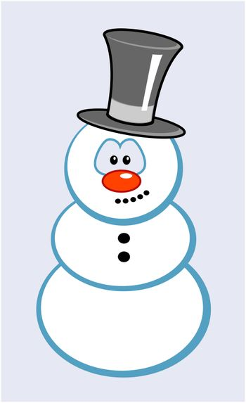 snowman with comic face