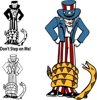 Tea Party Rattlesnake Uncle Sam