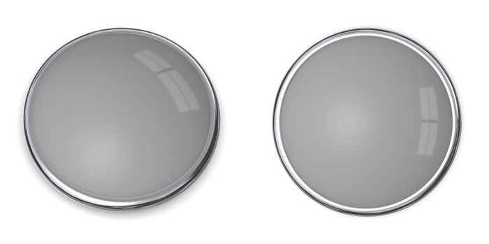 3D Button Solid Grey - 40%