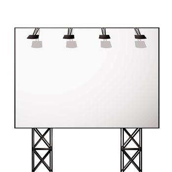 billboard white shadow