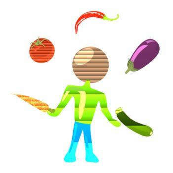 juggling humanoid