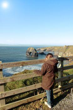 cliff edge girl
