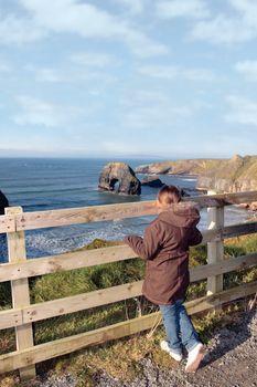 cliffs edge girl