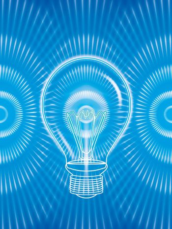 illustration of bulb abstract background blue color texture
