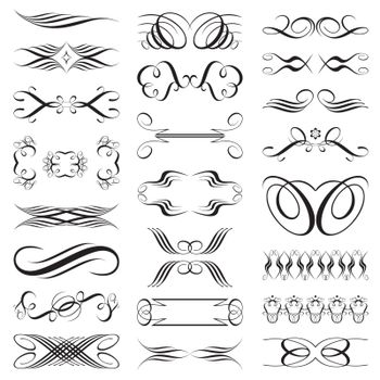 vector file of black and white design elements