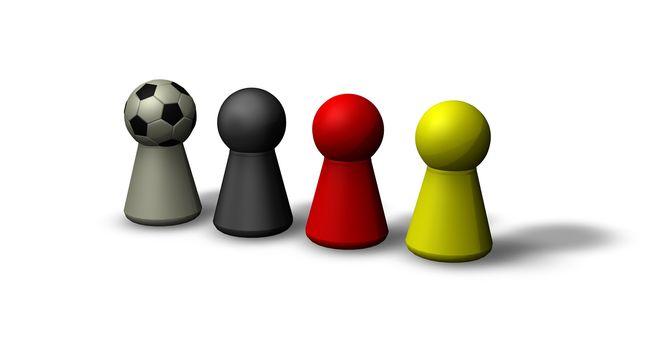 play figures in german colors and soccerhead