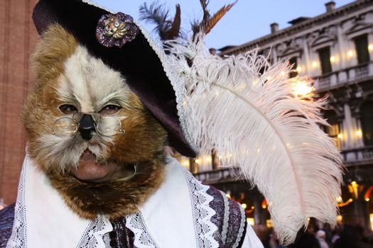 Puss in Boots at the Venice Carnival