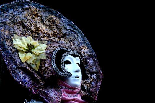 Portrait of a masked woman