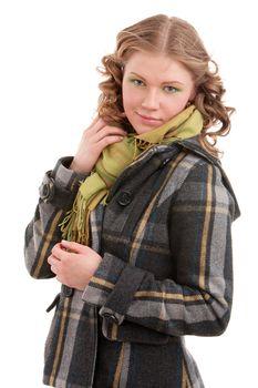 Girl in a coat