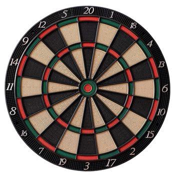 Isolated dartboard on white background