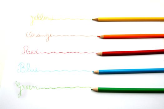 beautiful colored pencils ans pens