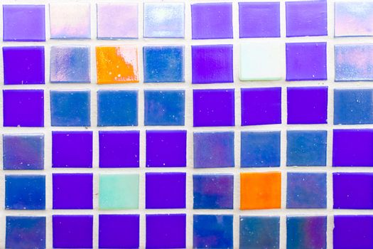 small blue tiles texture close up