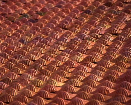 Terra Cotta roof tiles of Hoi An, Vietnam