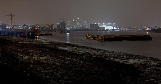Docklands at Night Panoramic