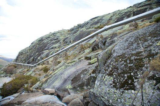 pipeline across the mountain