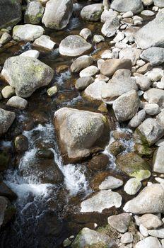 rocks on stream