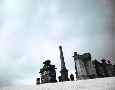 Cemetary in infrared