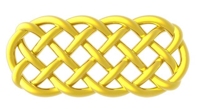 golden celtic knots on white background