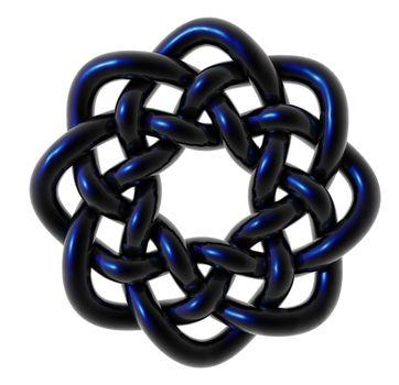 celtic knots design on white background - 3d illustration