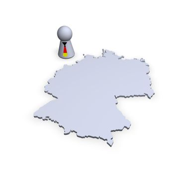 germany map and play figure with tie in german colors