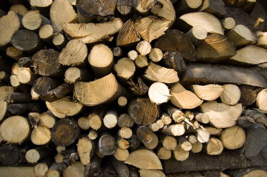 woodpile for stoves