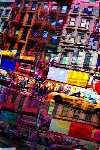 Abstract City Montage
