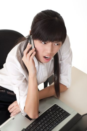 Business woman in anger