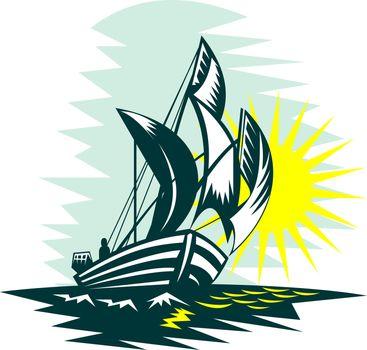 sailboat fishing