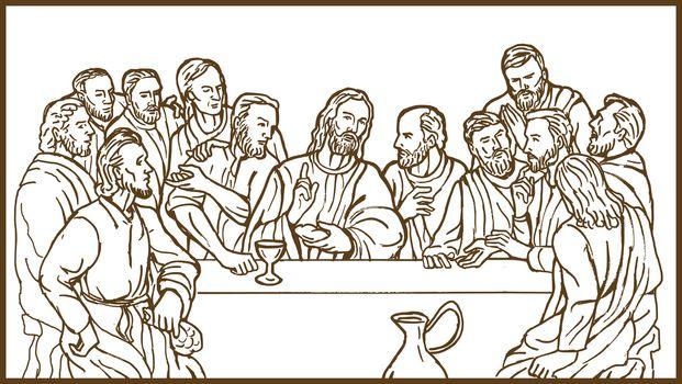 last supper Jesus Christ savior disciples apostles