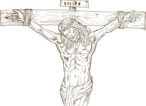Jesus Christ hanging on the cross