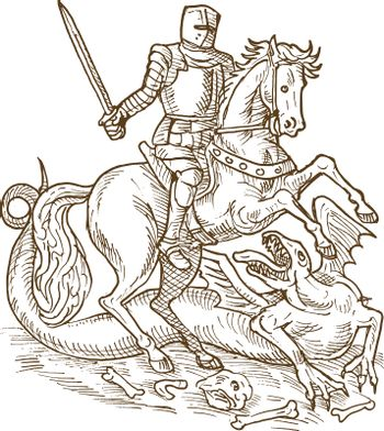 Saint George knight and the dragon
